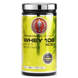 Powerman Whey 106 500g Dose Erdbeere